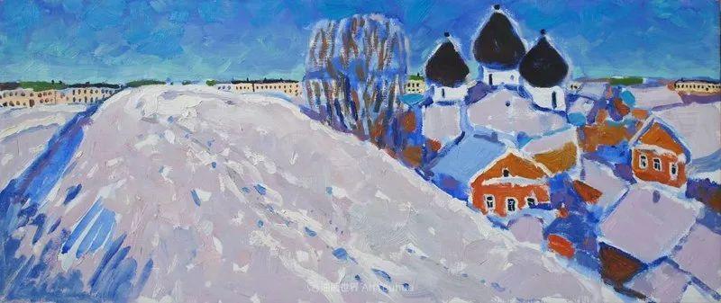 浓郁迷人的风景画,俄罗斯画家Bakhvalov Stanislav作品插图163