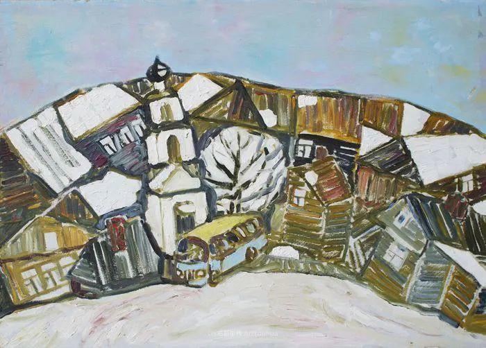 浓郁迷人的风景画,俄罗斯画家Bakhvalov Stanislav作品插图169