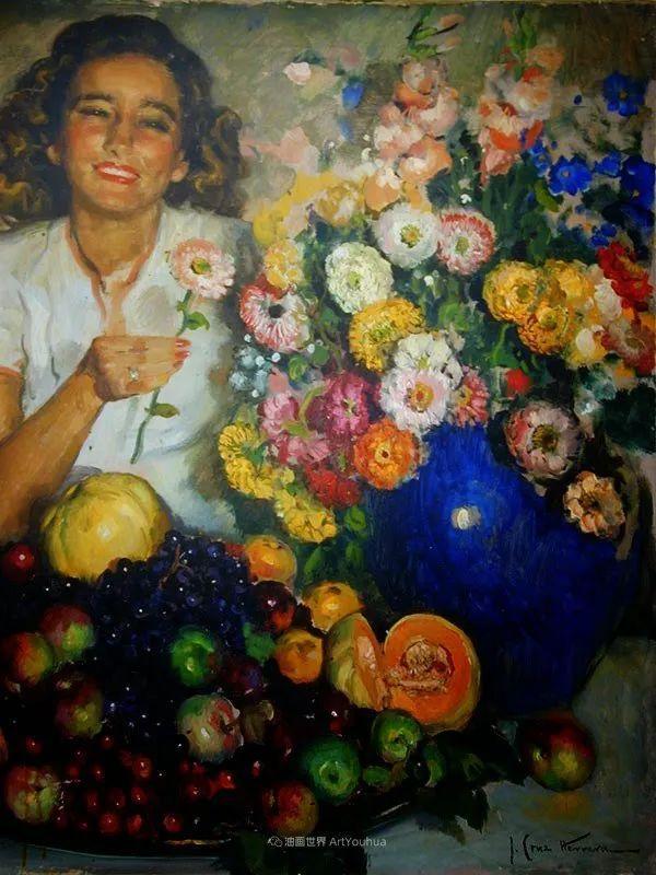 西班牙画家何塞·克鲁斯·埃雷拉人物作品欣赏插图9