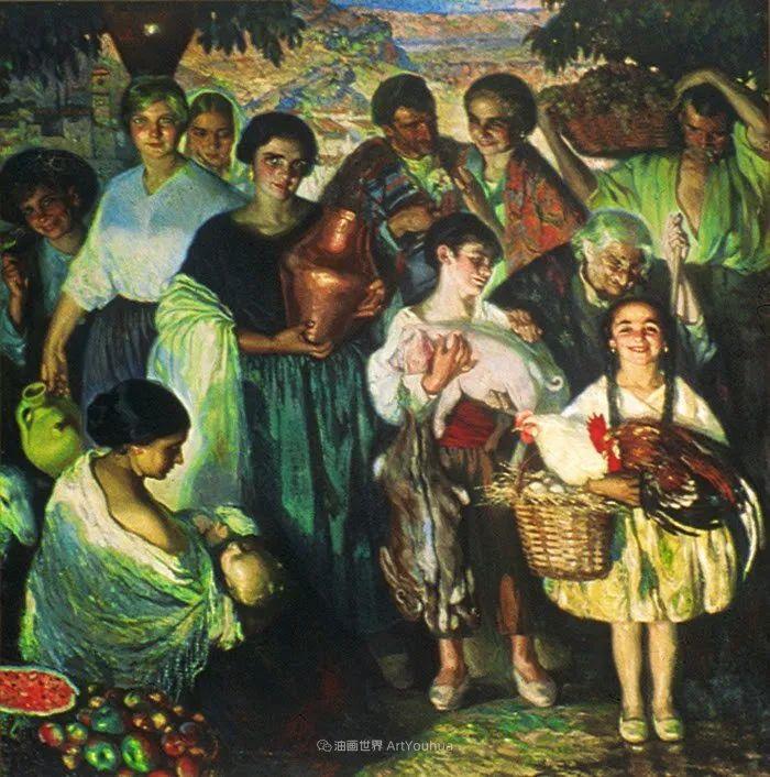 西班牙画家何塞·克鲁斯·埃雷拉人物作品欣赏插图23