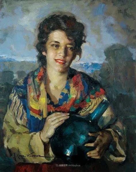 西班牙画家何塞·克鲁斯·埃雷拉人物作品欣赏插图61