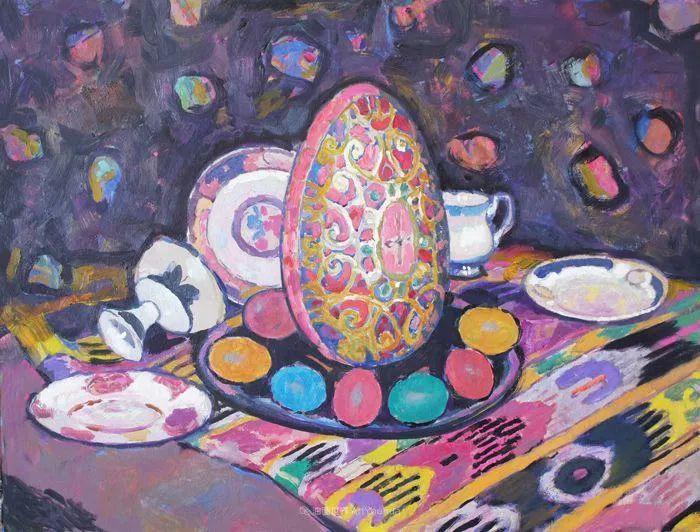 他的静物与人物作品,色彩如此的美妙!插图15