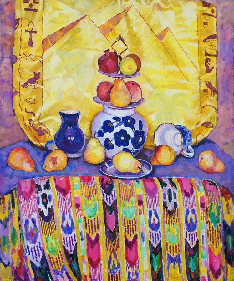 他的静物与人物作品,色彩如此的美妙!插图19