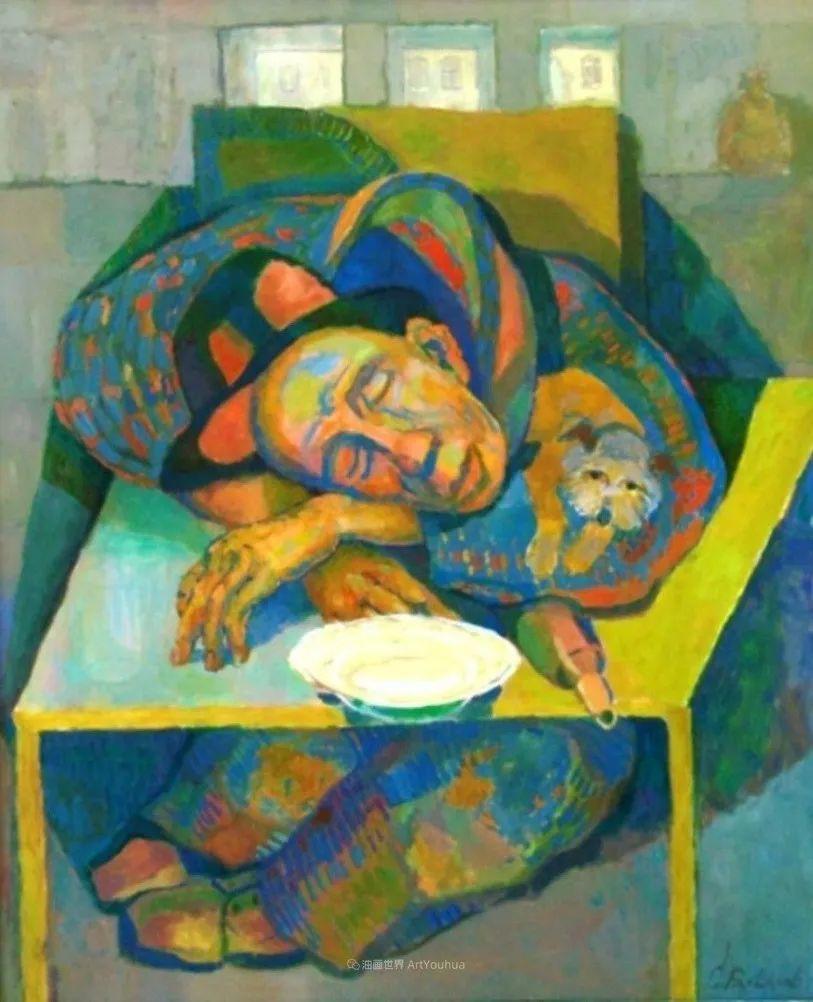 他的静物与人物作品,色彩如此的美妙!插图47