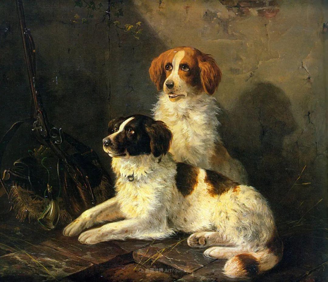 100多年前荷兰女画家笔下的狗,活灵活现!插图3