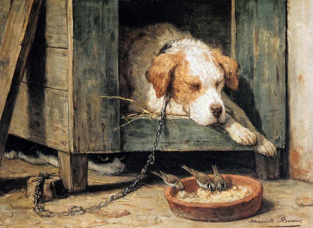 100多年前荷兰女画家笔下的狗,活灵活现!插图5