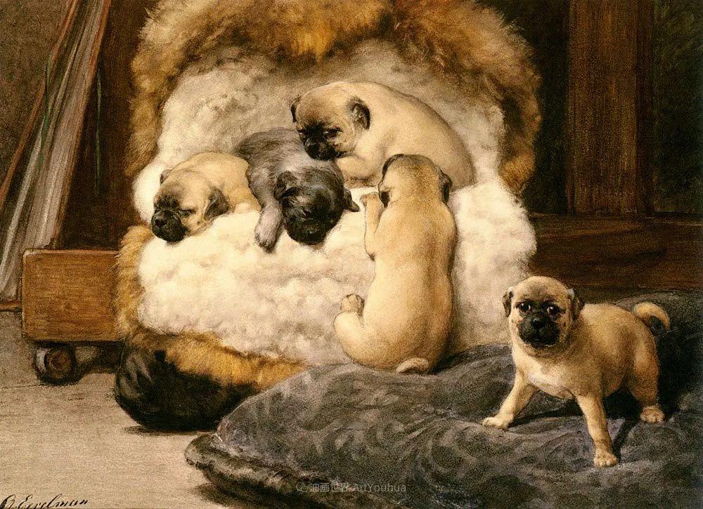 100多年前荷兰女画家笔下的狗,活灵活现!插图15