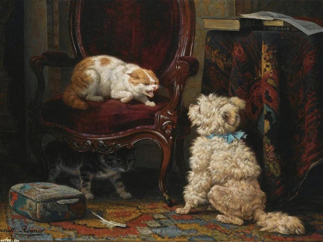 100多年前荷兰女画家笔下的狗,活灵活现!插图23