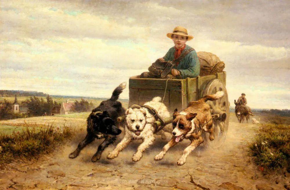 100多年前荷兰女画家笔下的狗,活灵活现!插图33