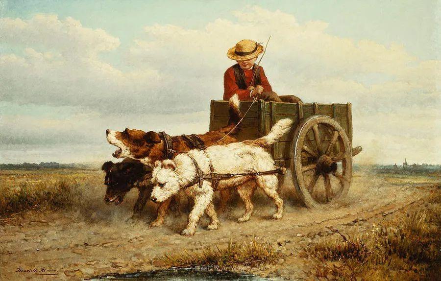 100多年前荷兰女画家笔下的狗,活灵活现!插图35