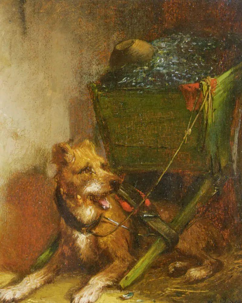 100多年前荷兰女画家笔下的狗,活灵活现!插图37