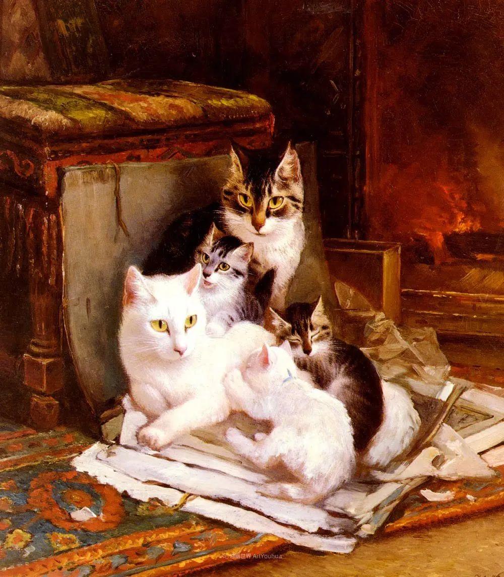 100年前她画了超多猫,姿态万千,惟妙惟肖插图1