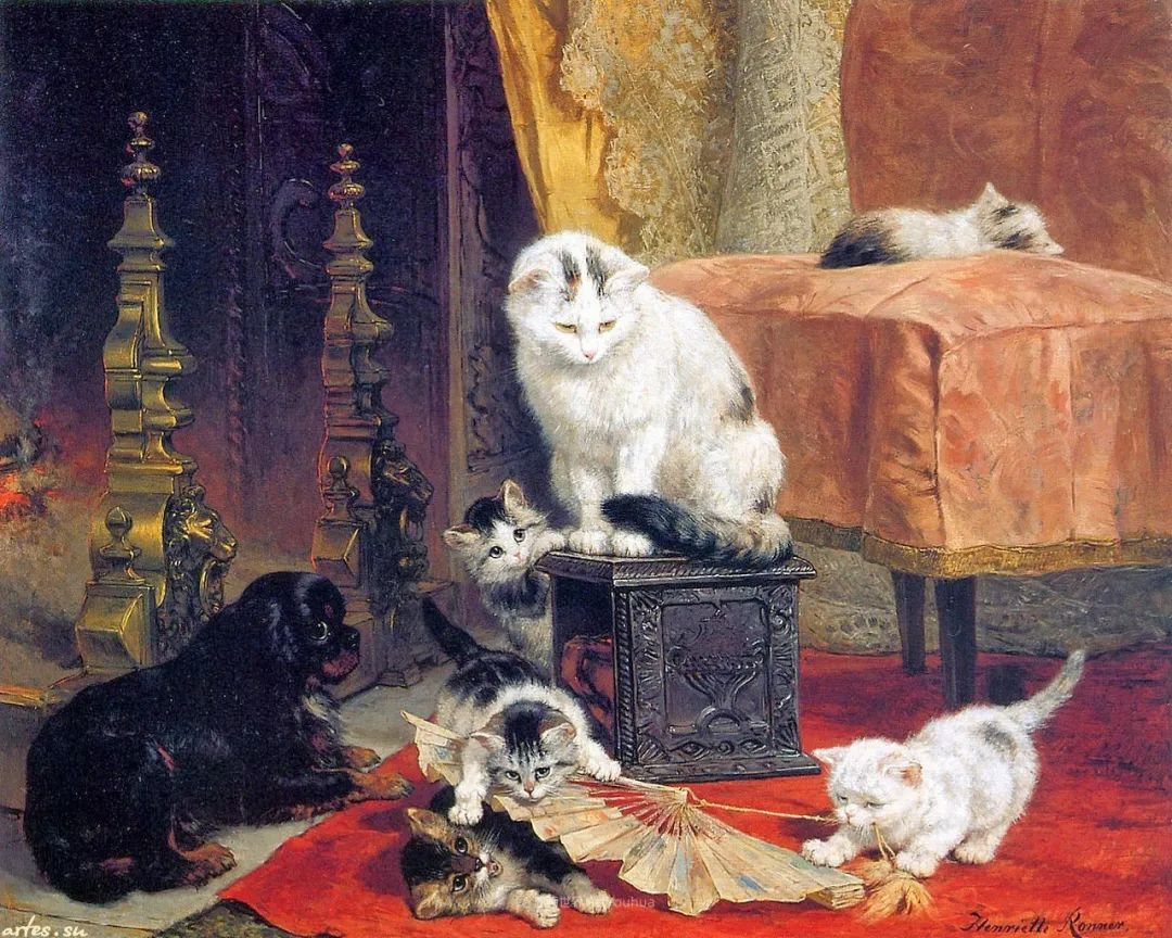 100年前她画了超多猫,姿态万千,惟妙惟肖插图5