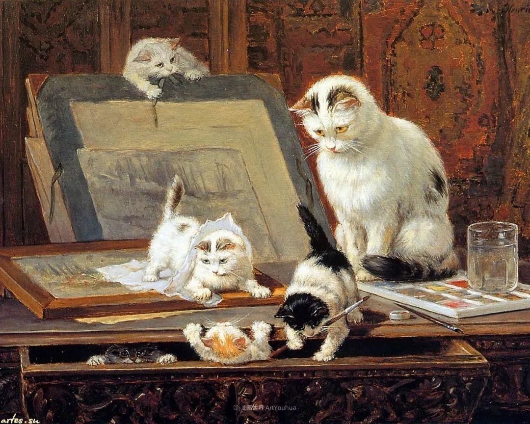 100年前她画了超多猫,姿态万千,惟妙惟肖插图9
