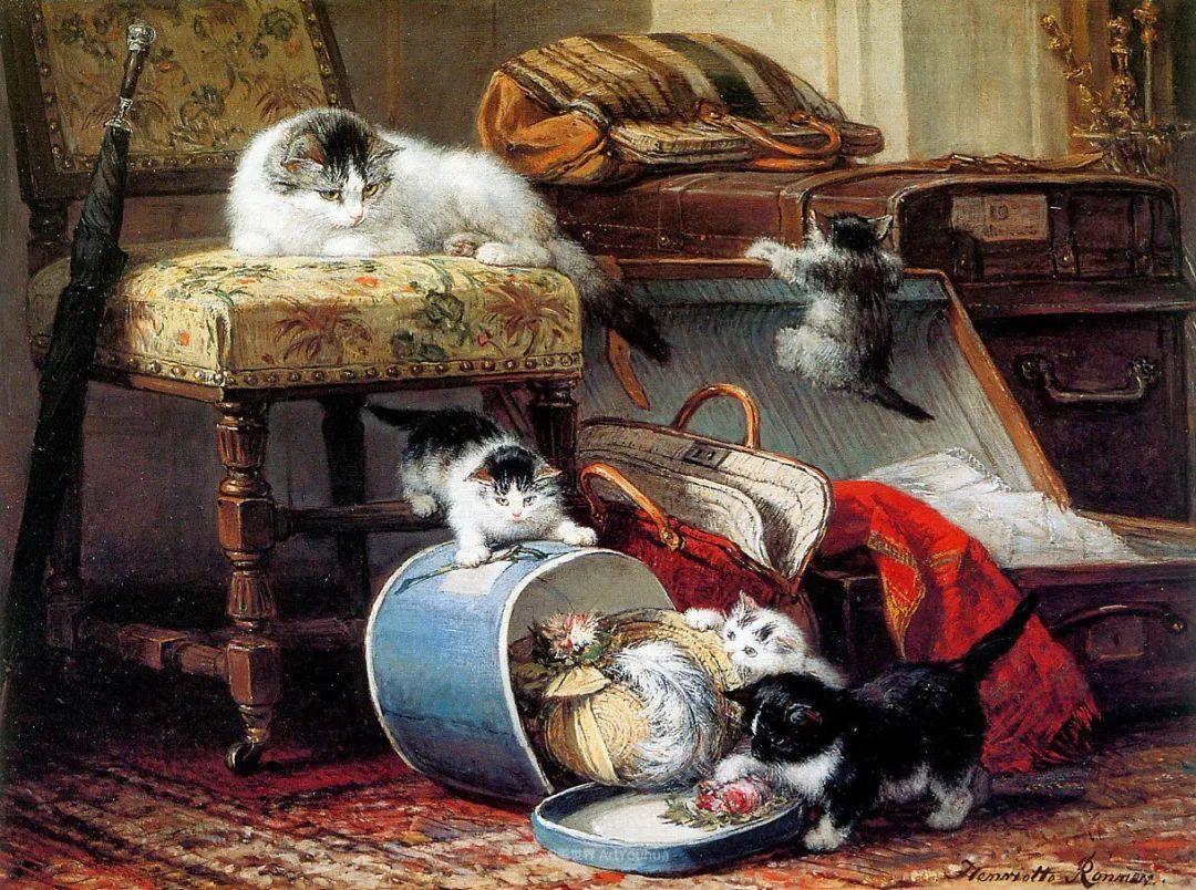 100年前她画了超多猫,姿态万千,惟妙惟肖插图13