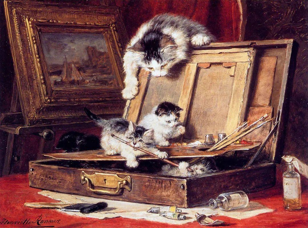 100年前她画了超多猫,姿态万千,惟妙惟肖插图15