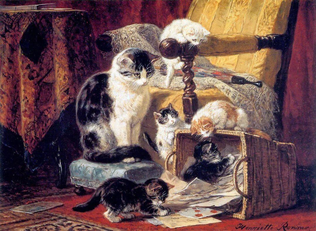 100年前她画了超多猫,姿态万千,惟妙惟肖插图17
