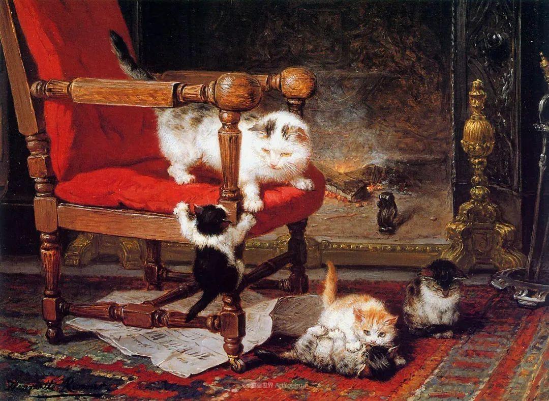 100年前她画了超多猫,姿态万千,惟妙惟肖插图19
