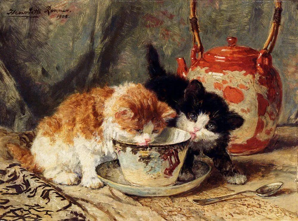 100年前她画了超多猫,姿态万千,惟妙惟肖插图21