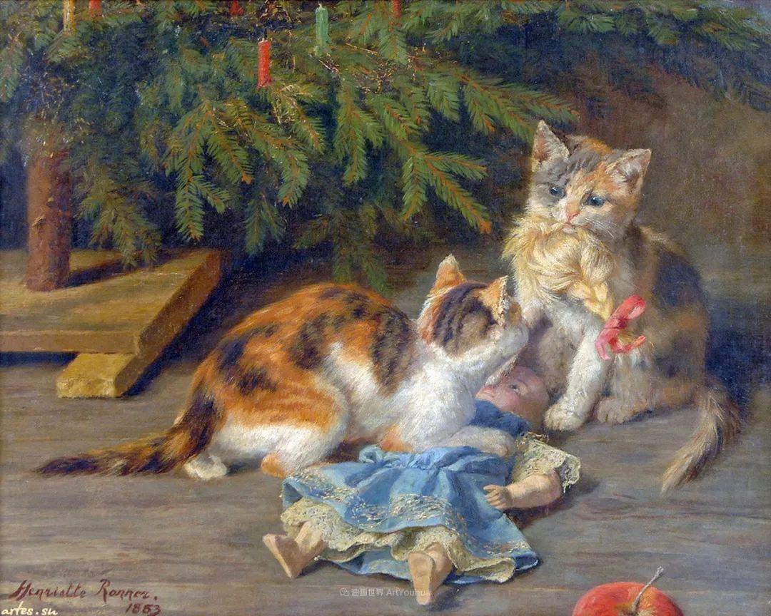 100年前她画了超多猫,姿态万千,惟妙惟肖插图23