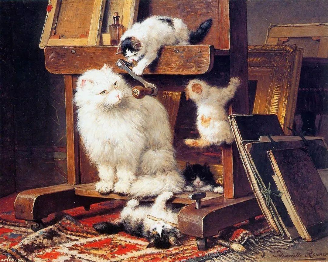 100年前她画了超多猫,姿态万千,惟妙惟肖插图27