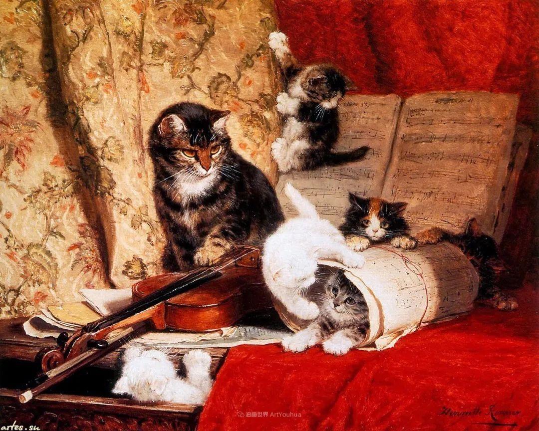 100年前她画了超多猫,姿态万千,惟妙惟肖插图29