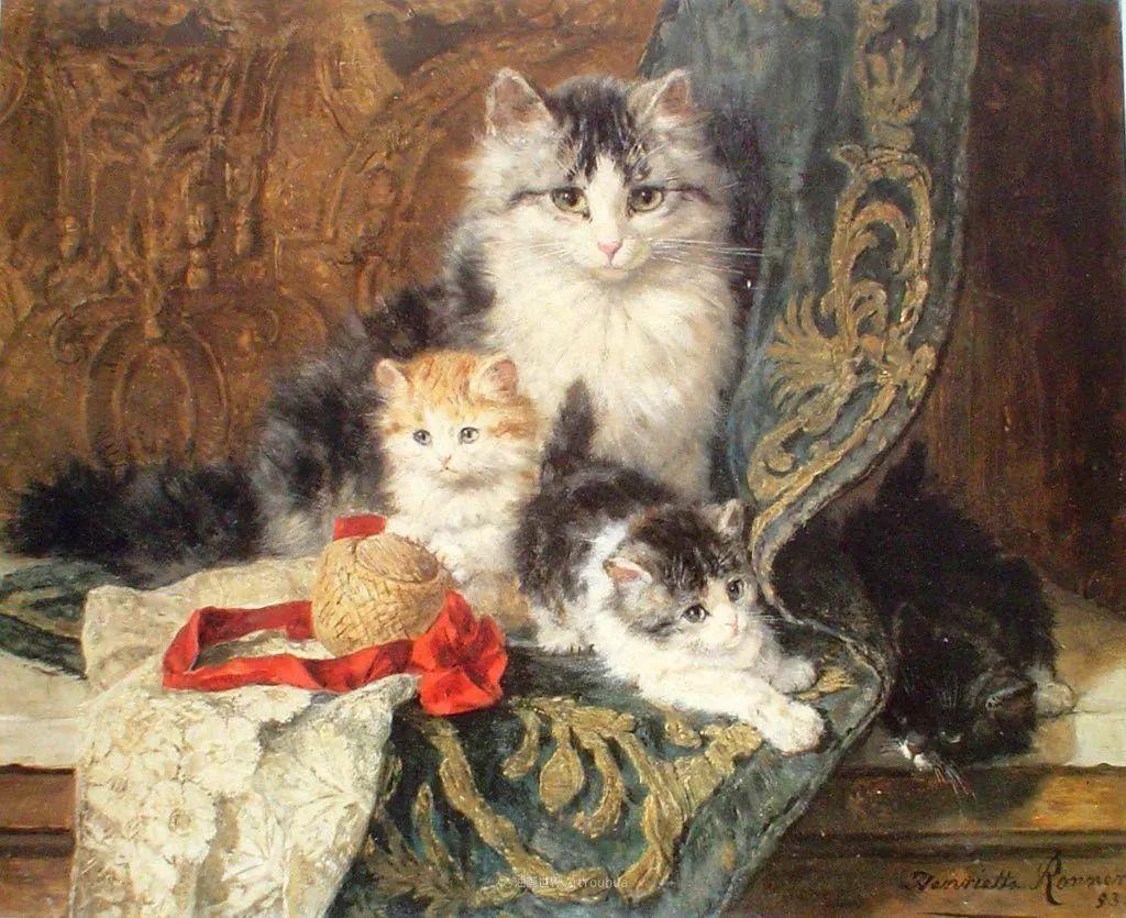 100年前她画了超多猫,姿态万千,惟妙惟肖插图33