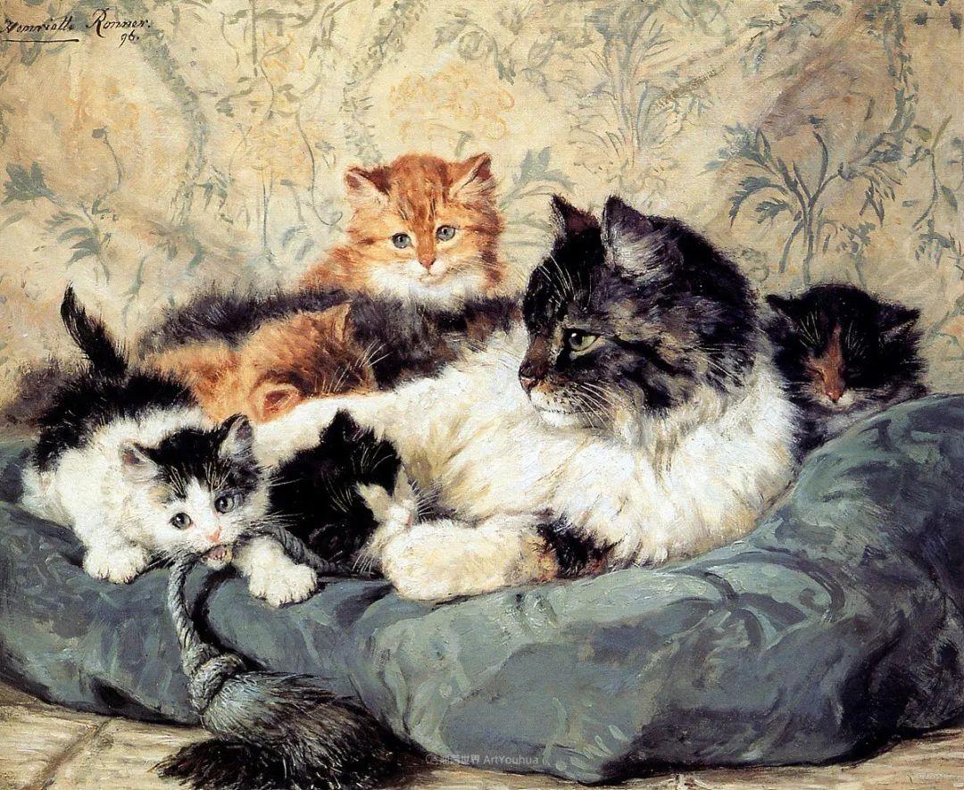 100年前她画了超多猫,姿态万千,惟妙惟肖插图35