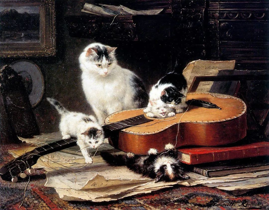100年前她画了超多猫,姿态万千,惟妙惟肖插图37