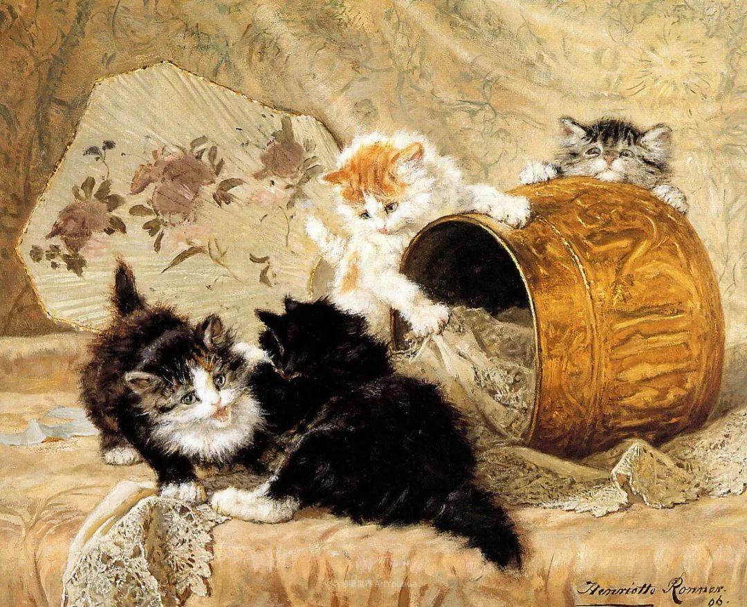 100年前她画了超多猫,姿态万千,惟妙惟肖插图39