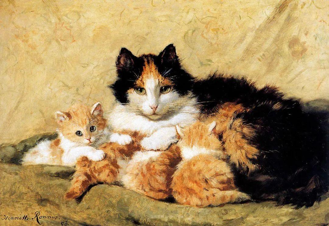 100年前她画了超多猫,姿态万千,惟妙惟肖插图41