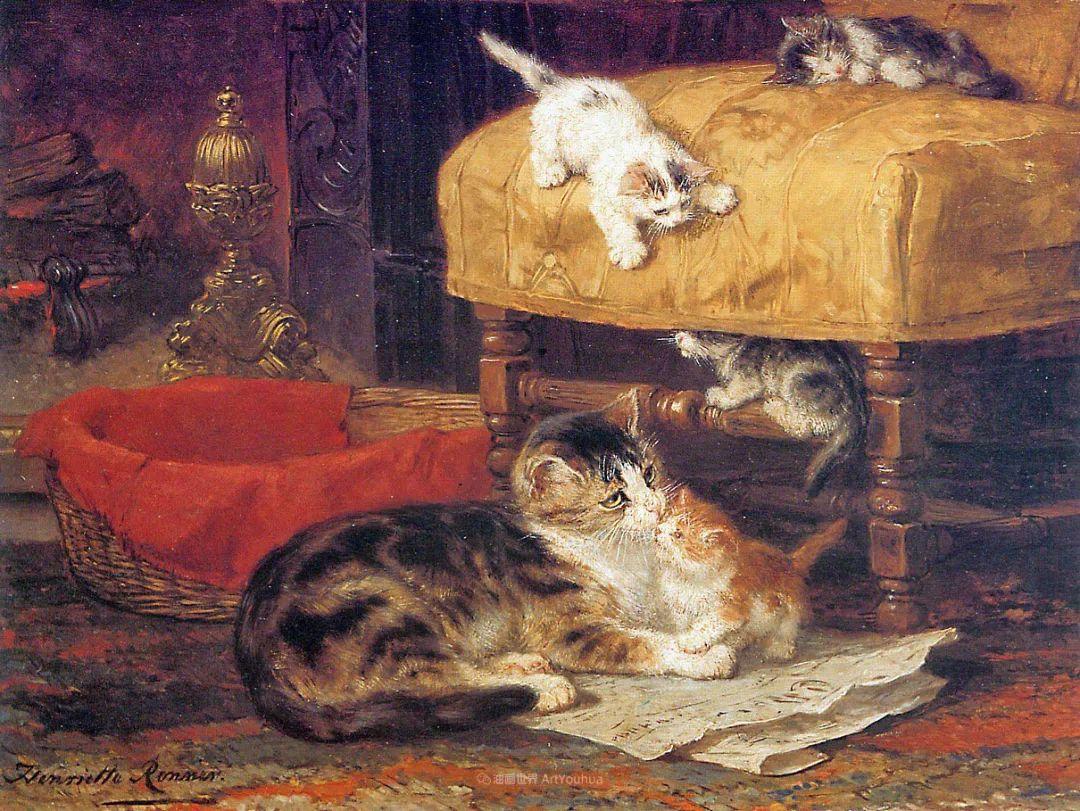 100年前她画了超多猫,姿态万千,惟妙惟肖插图43