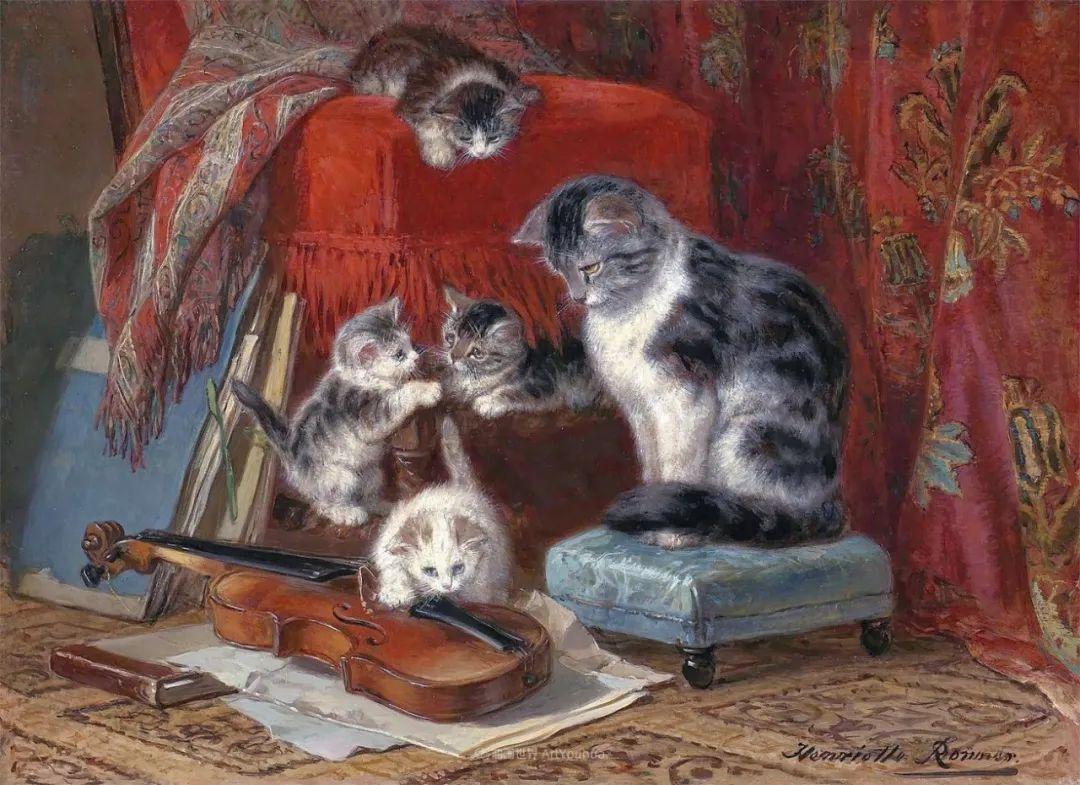 100年前她画了超多猫,姿态万千,惟妙惟肖插图45