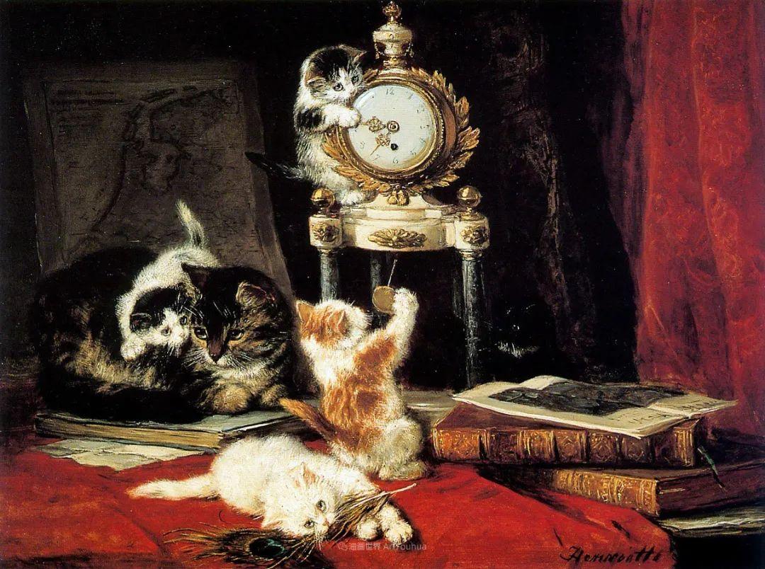 100年前她画了超多猫,姿态万千,惟妙惟肖插图53