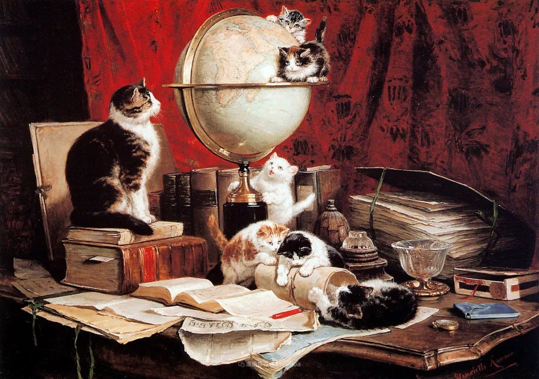 100年前她画了超多猫,姿态万千,惟妙惟肖插图57