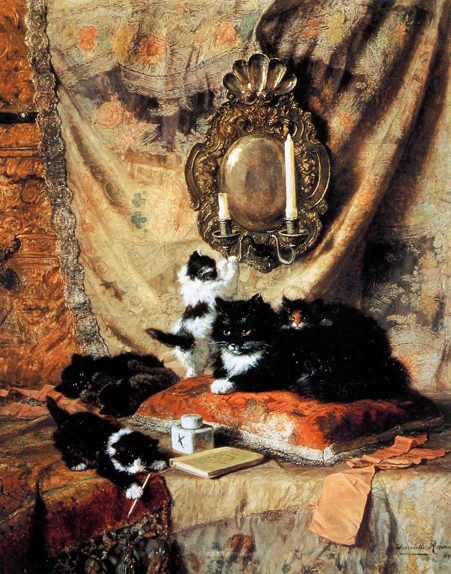 100年前她画了超多猫,姿态万千,惟妙惟肖插图61