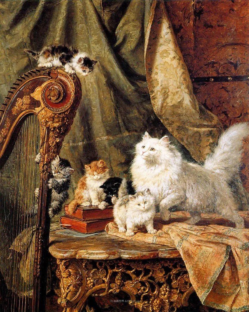 100年前她画了超多猫,姿态万千,惟妙惟肖插图67
