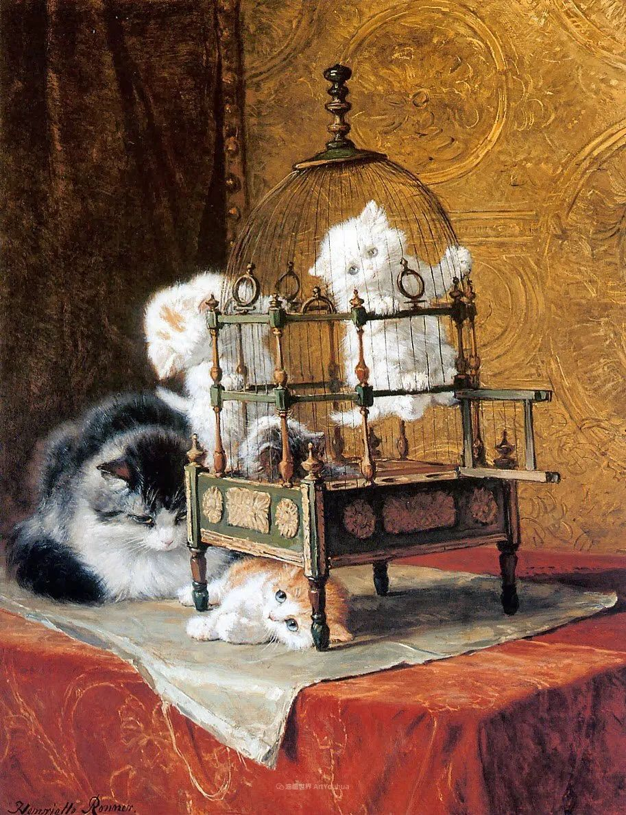 100年前她画了超多猫,姿态万千,惟妙惟肖插图69