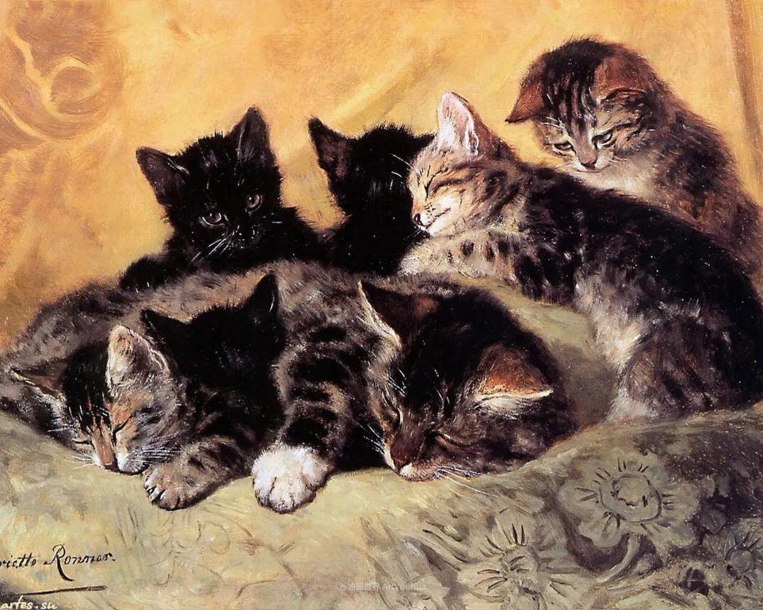 100年前她画了超多猫,姿态万千,惟妙惟肖插图71