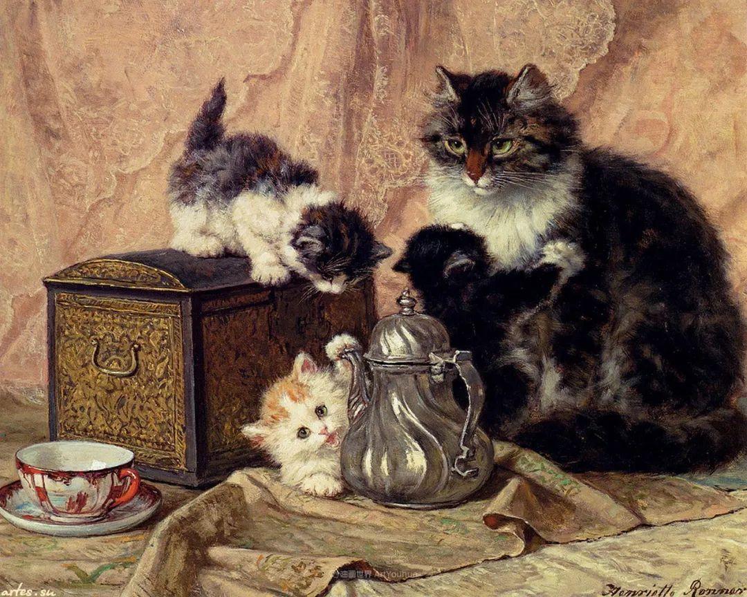100年前她画了超多猫,姿态万千,惟妙惟肖插图73