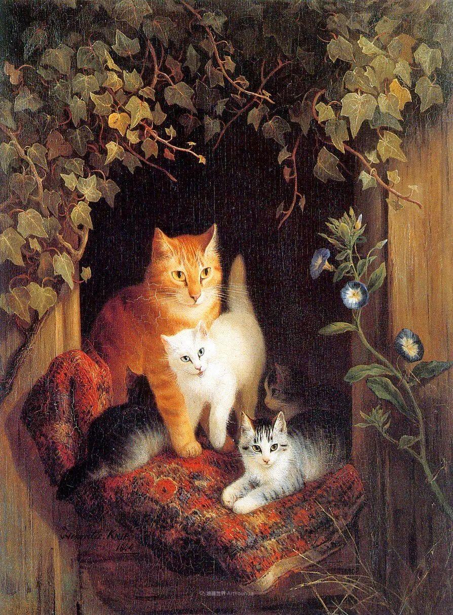 100年前她画了超多猫,姿态万千,惟妙惟肖插图77