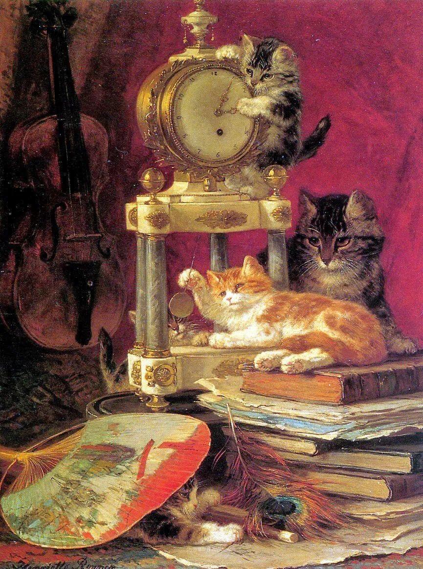 100年前她画了超多猫,姿态万千,惟妙惟肖插图79