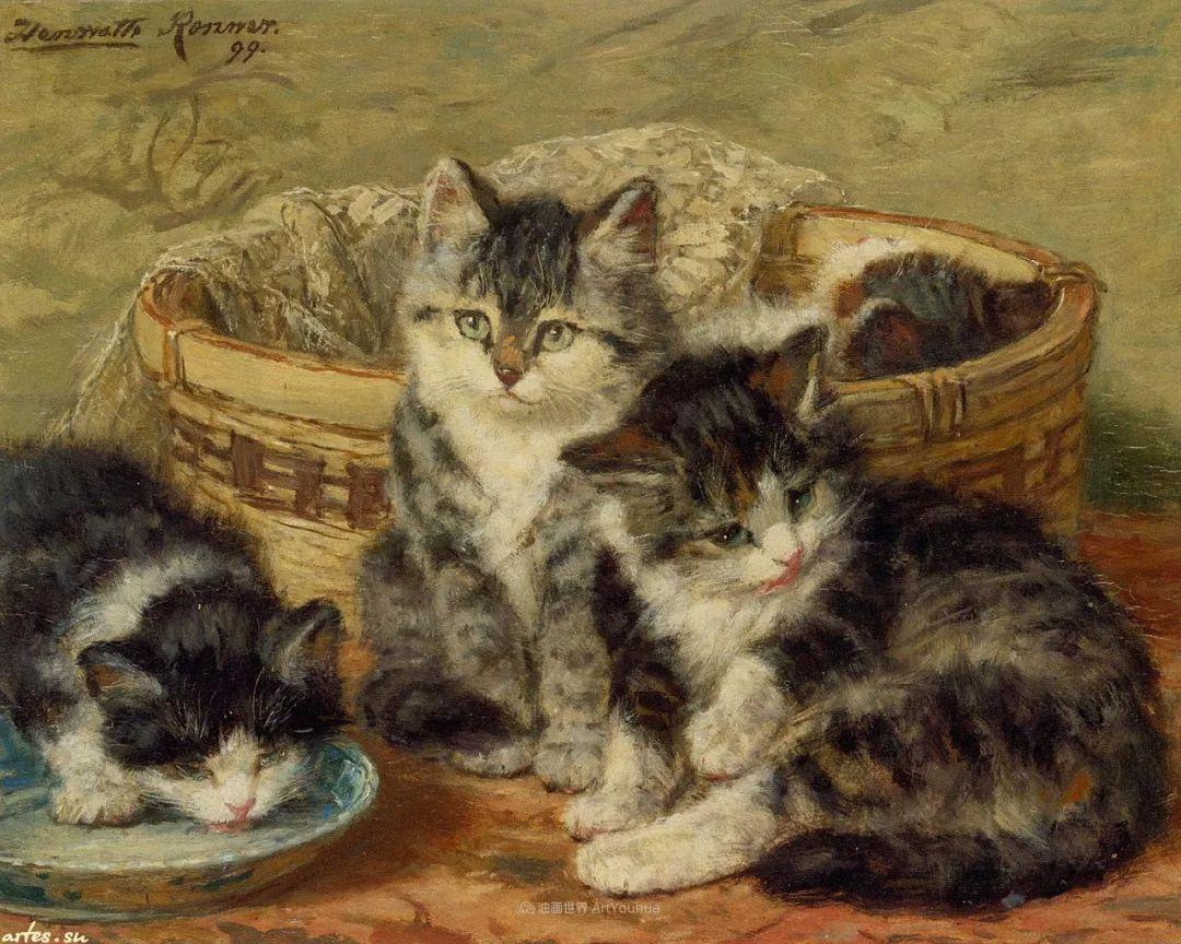 100年前她画了超多猫,姿态万千,惟妙惟肖插图81