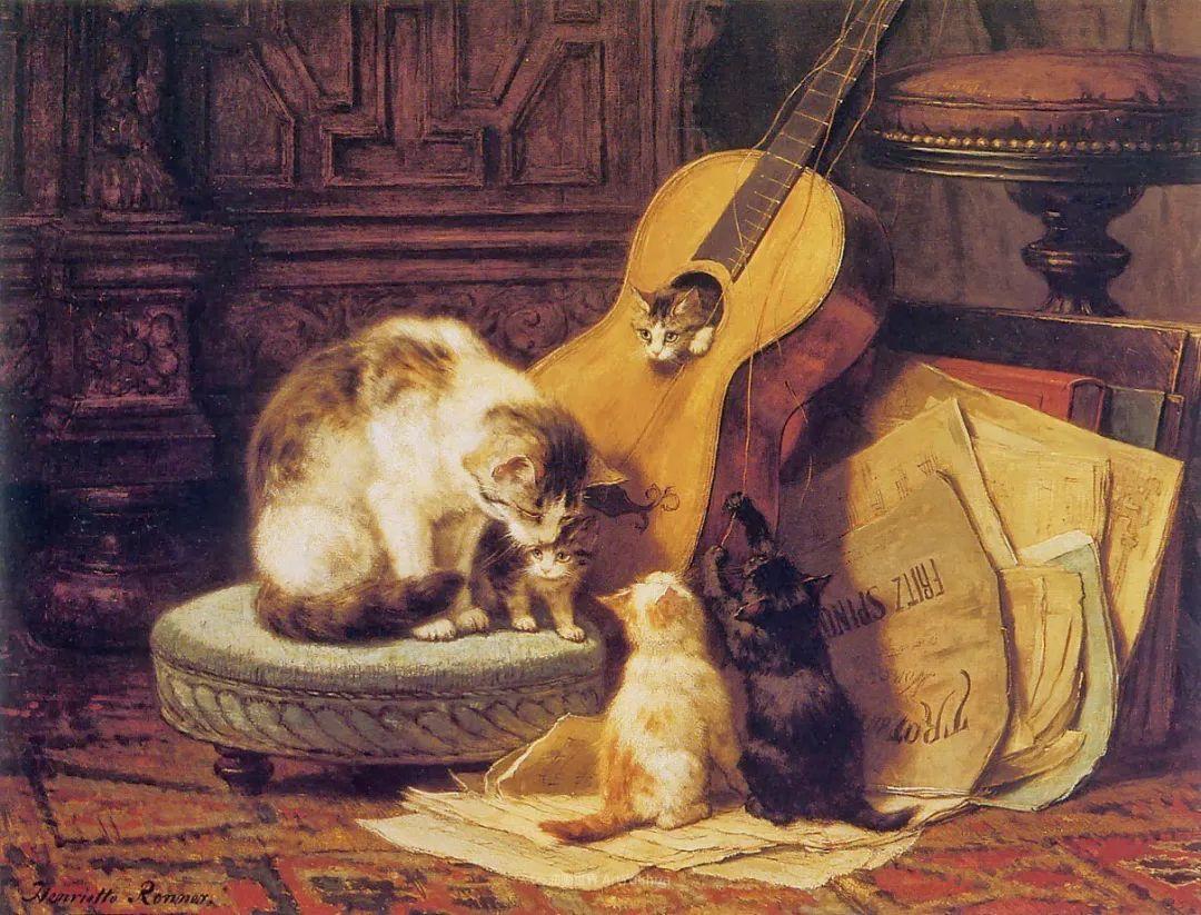 100年前她画了超多猫,姿态万千,惟妙惟肖插图83