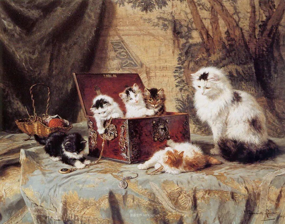 100年前她画了超多猫,姿态万千,惟妙惟肖插图85