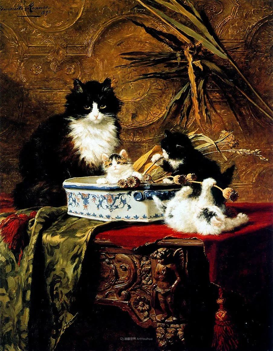 100年前她画了超多猫,姿态万千,惟妙惟肖插图89
