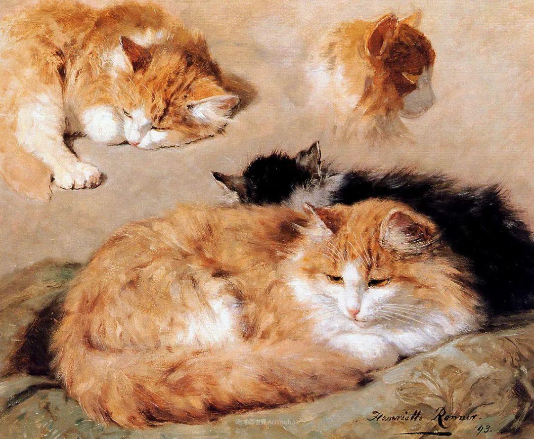 100年前她画了超多猫,姿态万千,惟妙惟肖插图91