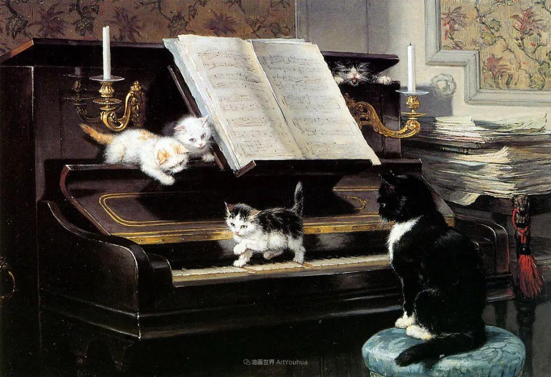100年前她画了超多猫,姿态万千,惟妙惟肖插图93