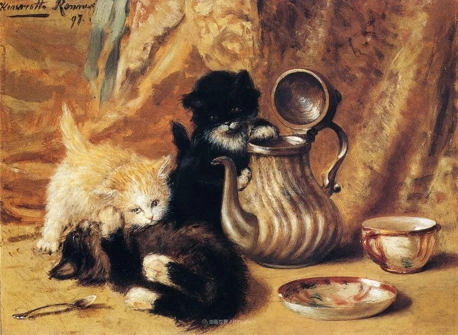 100年前她画了超多猫,姿态万千,惟妙惟肖插图97