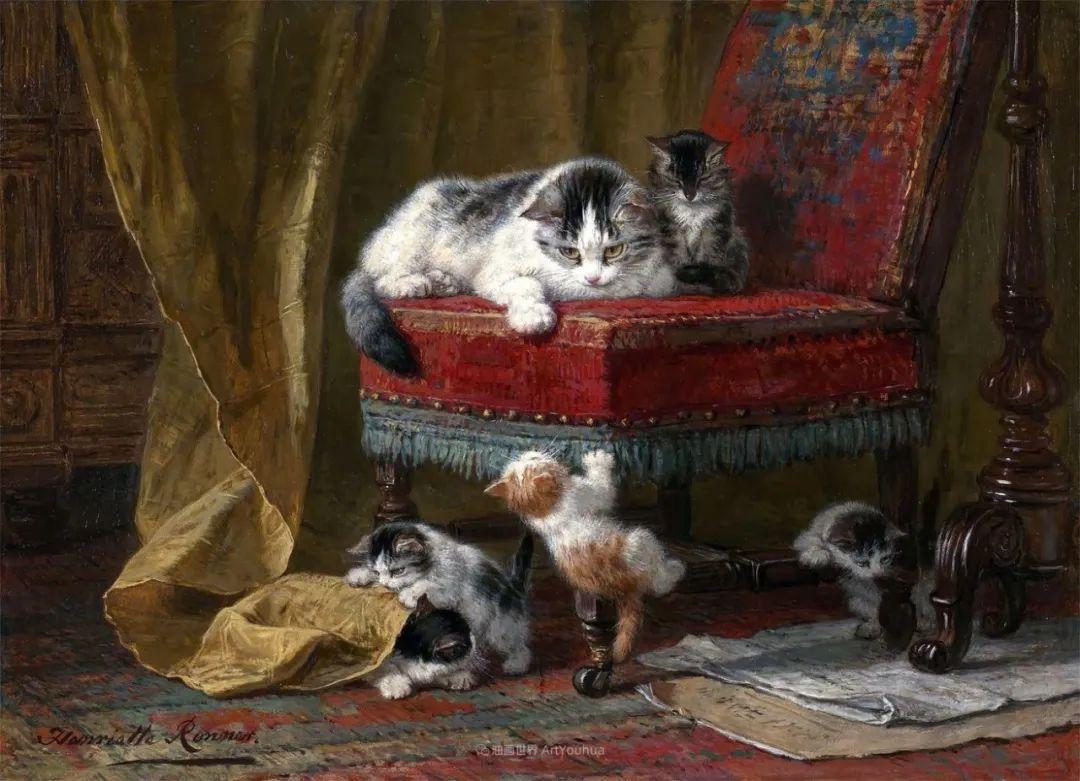 100年前她画了超多猫,姿态万千,惟妙惟肖插图101